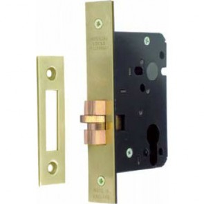 Mortice Cylinder Claw Bolt Dead Lock Case - Polished Brass