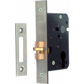 Mortice Cylinder Claw Bolt Dead Lock Case - Satin Stainless Steel