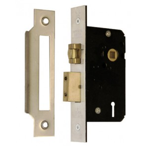"Imperial 5 Lever 5L Mortice Roller Sash Lock 2.5"" - Satin Stainless Steel"