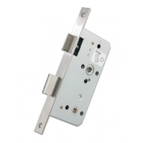 DIN Bathroom Lock 60mm Backset  - Satin Stainless Steel