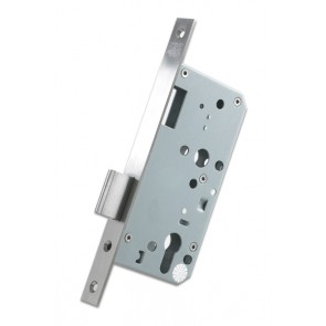 DIN Euro Deadlock 60mm Backset - Satin Stainless Steel