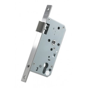 DIN Nightlatch 60mm Backset - Satin Stainless Steel