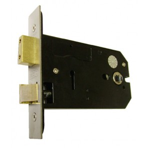 "5"" Horizontal Bathroom Lock Satin Stainless Steel"
