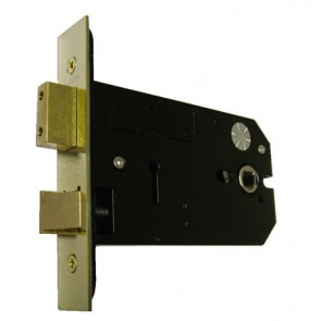 "5"" Horizontal 3Lever Lock PVD Brass"
