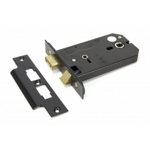 "5"" Horizontal Bathroom Lock Black"