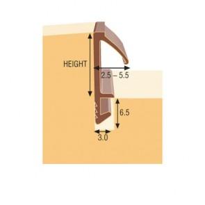 12mm Flat Flipper Seal 50m Roll - Brown