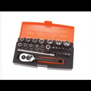 "Bahco SL25 Socket Set of 25 Metric ¼"" Drive"