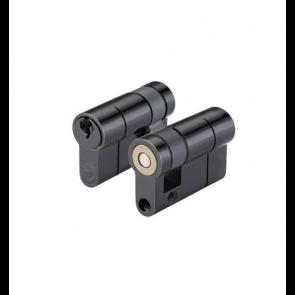 45/10 Half Euro Cylinder Keyed to Differ - Black