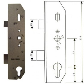 Mila UPVC 92 Gearbox Latch Only 35mm Backset