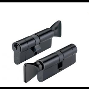 45/45 Euro Cylinder & Thumb turn KD - Black