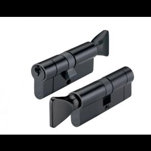 45/45 Euro Cylinder & Thumb turn KA - Black