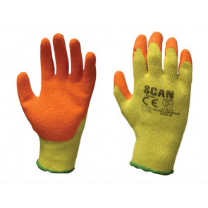 Multi Purpose Latex Grip Gloves - L (Size 9)