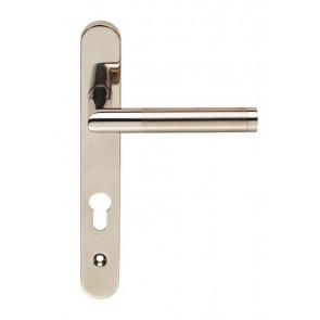 Treviri 92mm Narrow Style Espag on Oval Backplate (122mm Fixings) - 316/304 Stainless Steel