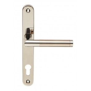 Treviri 92mm Narrow Style Espag on Oval Backplate (211mm Fixings) - 316/304 Stainless Steel