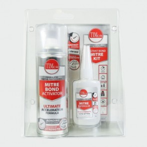Pack of 6 Instant Mitre Adhesive (50g) + Accelerator (200ml)