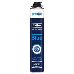 Exitex - Blue 60 Gun Grade Fire Rated Foam 750ml - Box of 12