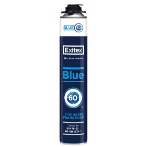 Exitex Blue 60 Hand Held Fire Rated Foam 750ml - Box of 12