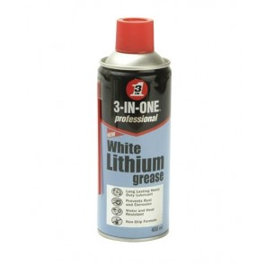White Lithium Grease 400ml Spray