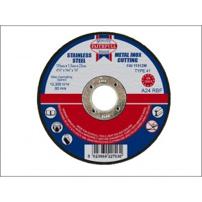 115mm x 3.2 x 22dia METAL CUT OFF DISCS