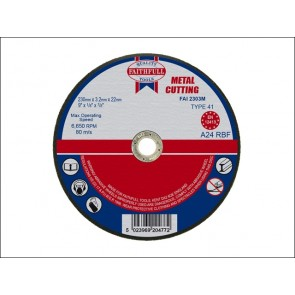 230mm x 3.2 x 22dia METAL CUT OFF DISCS