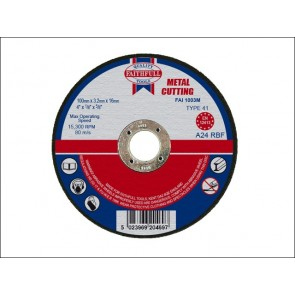 100mm x 3.2 x 16 dia METAL CUT OFF DISCS