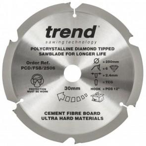 PCD/FSB/2506 - Fibreboard PCD Sawblade 250mm x 6T x 30mm