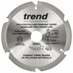 PCD/FSB/1906 - Fibreboard PCD Sawblade 190mm x 6T x 30mm