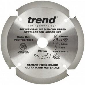 PCD/FSB/1604 - Fibreboard PCD Sawblade 160mm x 6T x 20mm