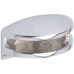 Glass Shelf Support - Polished Chrome