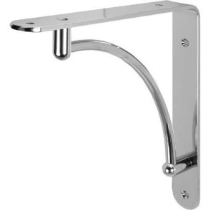 Shelf Support Bracket -  Polished Chrome