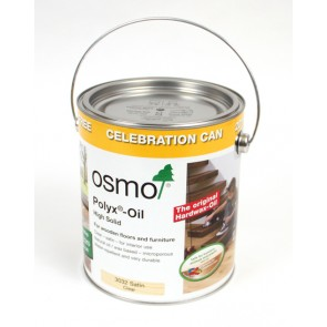 2 Pack of Osmo 3032 Polyx-Oil 3L Tin (20% Extra Free) - Clear Satin