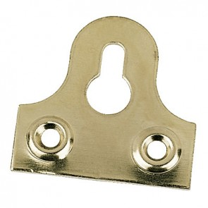 "Slotted Mirror Plate 1 1/4"" - Solid Brass"