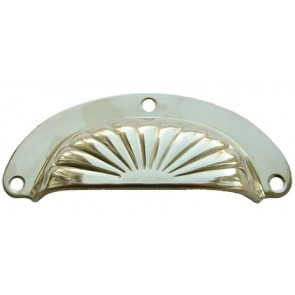 "4"" Sunrise Drawer Pull Polished Brass"