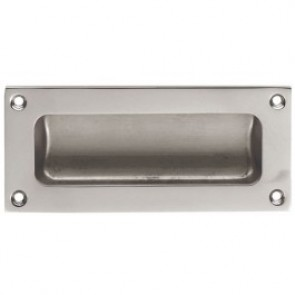 Flush Pull - Satin Chrome - Various Sizes
