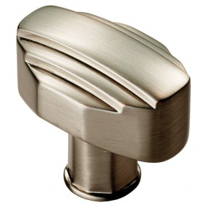 Art Deco Cabinet Knob 30mm x 20mm - Satin Nickel