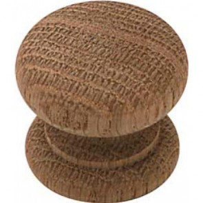 Wooden Cupboard Knob - Oak (M4)