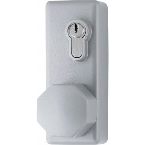 Outside Access Device with Knob - SIlver