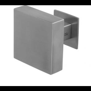 80 x 80mm Square Centre Door Knob/Pull - 316 SSS