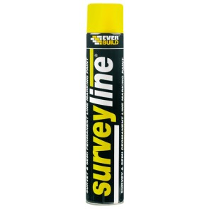 Everbuild Survey Line Spray Yellow 700ml