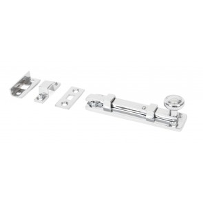 Universal Straight Door Bolts - Polished Chrome - Various Sizes