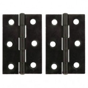 Steel Butt Hinges (pair) - Beeswax