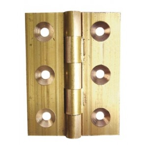 Solid Drawn Brass Butt Hinges Self Coloured (pair) - Various Sizes