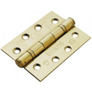 Ball Bearing SS Butt Hinges (pair) - PVD Brass