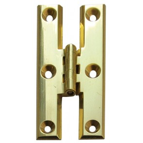"3"" H Hinge Bevelled Edge (pair) - Polished Brass"