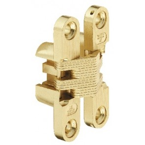 SOSS Zinc Alloy Hinges (pair) - Brass Plated