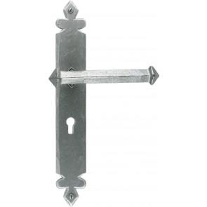 Tudor Lever Handle Sets - Pewter