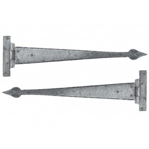 Handmade Arrow Head Tee Hinge (pair) - Pewter