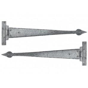 Handmade Arrow Head Tee Hinge (pair) - Pewter