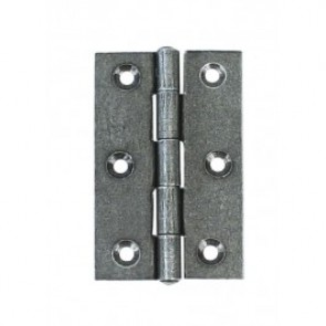 Steel Butt Hinges (pair) - Pewter Patina
