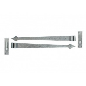 Pewter 35'' Hook & Band Hinge - Cranked (pair)